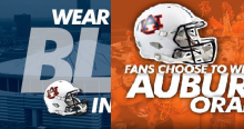 auburn blue or orange