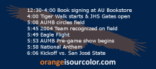 Auburn Gameday Schedule