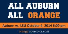 Auburn LSU 2014 wear orange